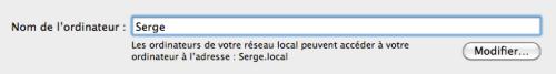 Modifier le nom de l'ordinateur sous OSX